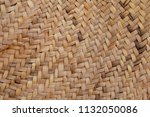 weaved mat from dried palm... | Shutterstock . vector #1132050086