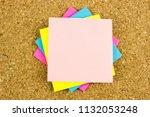 olorful paper blanks  office...   Shutterstock . vector #1132053248