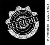 befriend on blackboard | Shutterstock .eps vector #1132057835
