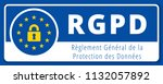 eu rgpd sign illustration | Shutterstock .eps vector #1132057892