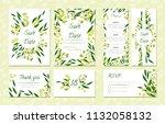 eucalyptus design. wedding... | Shutterstock .eps vector #1132058132