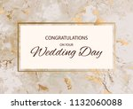 congratulations on your wedding ... | Shutterstock .eps vector #1132060088