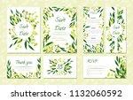 eucalyptus design. wedding... | Shutterstock .eps vector #1132060592