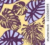 seamless vector tropical...   Shutterstock .eps vector #1132060595