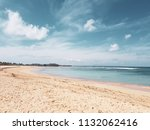 beautiful empty sandy beach... | Shutterstock . vector #1132062416