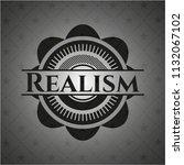 realism dark badge | Shutterstock .eps vector #1132067102