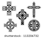 set of irish celtic crosses...
