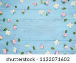 Flowers Pattern. Frame Made Of...