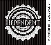 dependent silver emblem or badge | Shutterstock .eps vector #1132080278