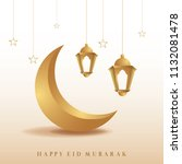 ramadan mubarak background.... | Shutterstock .eps vector #1132081478