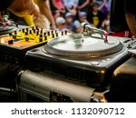 turntable dj setup | Shutterstock . vector #1132090712