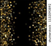gold flying stars confetti... | Shutterstock .eps vector #1132093892