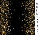 gold flying stars confetti... | Shutterstock .eps vector #1132093892