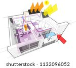 3d illustration of apartment...   Shutterstock .eps vector #1132096052