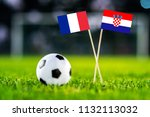 france and croatia national...   Shutterstock . vector #1132113032