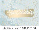 worn marble gold and pastel... | Shutterstock .eps vector #1132113188