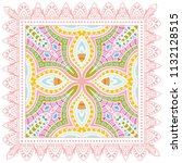 decorative colorful ornament on ... | Shutterstock .eps vector #1132128515