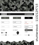 light gray vector design ui kit ...