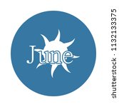 june icon. element of name of...