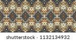 ikat seamless pattern. vector... | Shutterstock .eps vector #1132134932