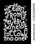 learn from everyone follow no...   Shutterstock .eps vector #1132140698