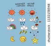 weather doodle cartoon vector...   Shutterstock .eps vector #1132158548