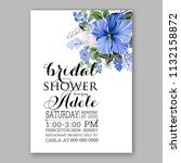 floral wedding invitation or... | Shutterstock .eps vector #1132158872