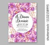 purple violet peony floral... | Shutterstock .eps vector #1132158995