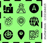 simple 9 icon set of map... | Shutterstock .eps vector #1132166615