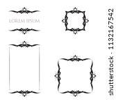 vintage floral frames borders... | Shutterstock .eps vector #1132167542