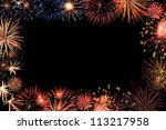 frame from colorful holiday... | Shutterstock . vector #113217958