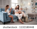 nice photo. cute modern girl... | Shutterstock . vector #1132180448