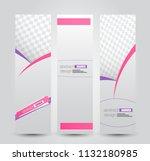 banner template. abstract... | Shutterstock .eps vector #1132180985