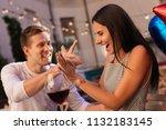 fun with man. appealing dark... | Shutterstock . vector #1132183145