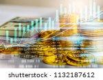 stock market or forex trading... | Shutterstock . vector #1132187612