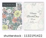 floral hand drawn frame for a... | Shutterstock .eps vector #1132191422