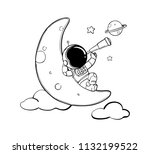 astronaut hand drawn | Shutterstock .eps vector #1132199522
