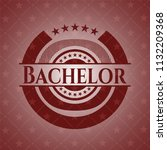 bachelor red emblem. retro | Shutterstock .eps vector #1132209368