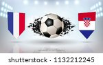 football cup 2018  finals match ... | Shutterstock .eps vector #1132212245