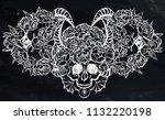 vector illustration. wreath of... | Shutterstock .eps vector #1132220198