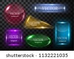 glass vector button plane. easy ... | Shutterstock .eps vector #1132221035