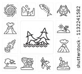 set of 13 simple editable icons ...   Shutterstock .eps vector #1132241582