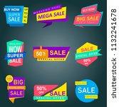 super sale banner  special... | Shutterstock . vector #1132241678