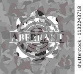 aberrant on grey camo texture   Shutterstock .eps vector #1132243718