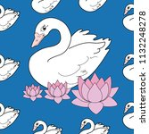 trendy seamless pattern with... | Shutterstock .eps vector #1132248278