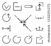 set of 13 simple editable icons ... | Shutterstock .eps vector #1132251272