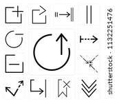 set of 13 simple editable icons ... | Shutterstock .eps vector #1132251476