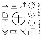 set of 13 simple editable icons ... | Shutterstock .eps vector #1132251605