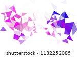 light purple vector polygonal... | Shutterstock .eps vector #1132252085