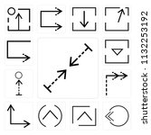 set of 13 simple editable icons ... | Shutterstock .eps vector #1132253192